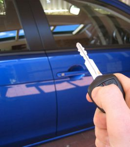 Car Key Replacement - blue car key